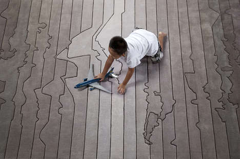 Time Zone-Themed Rugs - This Funky Rug Design Will Portray Your Wanderlust