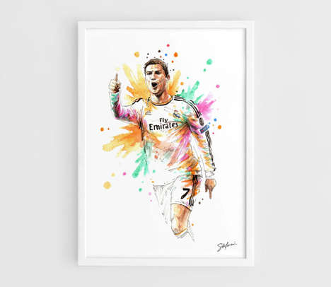Striking Soccer Star Paintings - Nazar Art
