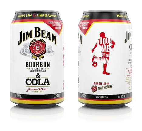 Kicky Beverage Cans - Jim Beam's Special World Cup Drink Packaging Celebrates Soccer