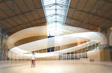 Giant Halo Installations - Boreal Halo Gives the Carreau du Temple a Heavenly Glow