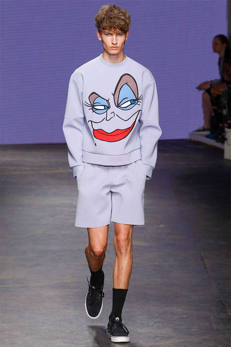Cartoon Iconography Runways - The Bobby Abley Spring/Summer 2015 Collection is Little Mermaid Themed