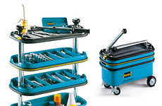 Collapsible Tool Carriers - The Hazet Tool Trolley is Perfect for Workers On-the-Go