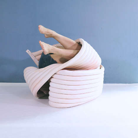 Flexible Body Chairs - The Body Chair by Kirsi Enkovaara Offers Flexible Seating