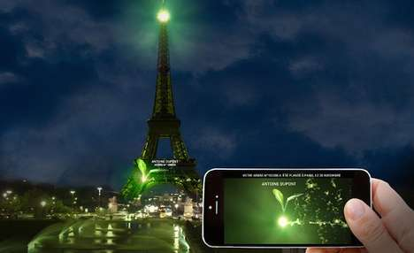 Heartbeat-Projecting Art - One Heart One Tree Will Raise Awareness About Climate Change in Paris