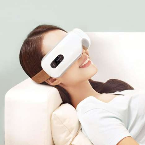 Therapeutic Eye Masks - The Traveler's Eye Massager is a Luxurious Companion to Travel