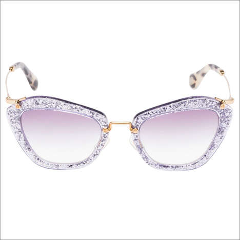 Disco Diva Eyewear - The Miu Miu Glitter Sunglasses Capsule Collection is Glamorous