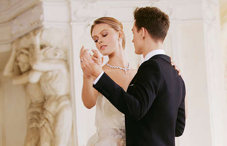 Waltzing Bride Ads - The Chow Sang Sang 2014 Bridal Campaign Stars Frida Gustavsson