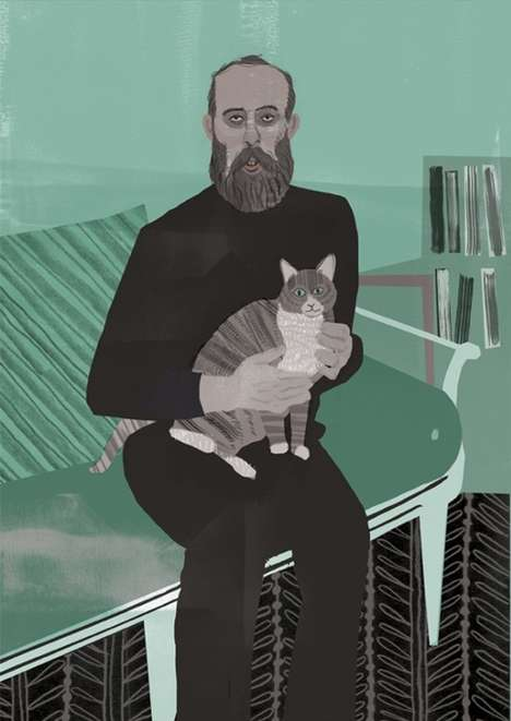 Celebrity Pet Illustrations - Sam Kalda Illustrates the Bond Between Creatives and Their Cats