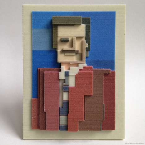 Cinematic Cubism Portraits - Isaac Budmen and Adam Lister Turn Film Scenes into 8-Bit Works of Art