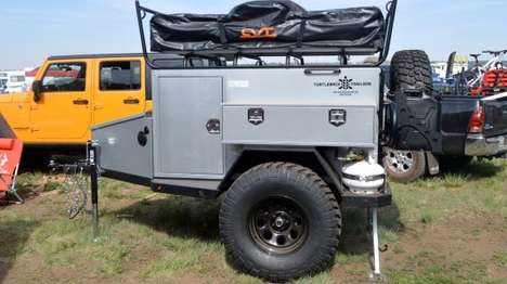 Rugged Camping Trailers - The Turtleback Trailer is Designed to Keep You Safely Equipped Outdoors