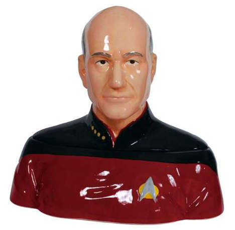 Galactic Cookie Jars - This Galactic Cookie Jar is Shaped Like the Iconic Captain Picard