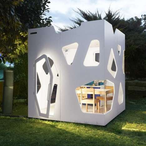 Cutout Club Houses - This Creative Playhouse is Intended For Outdoor Use and Imaginative Play