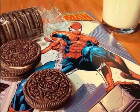 Crunchy Comic Canvases - Doug Bloodworth Creates Paintings with Snack Bags and Comics