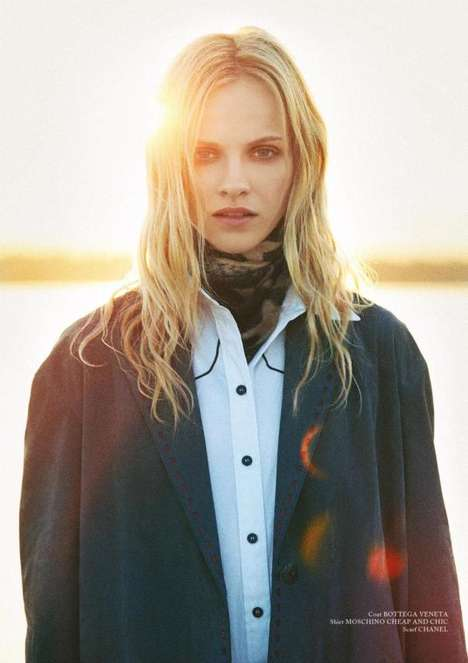 Rebellious Roamer Editorials - Ginta Lapina Stars in the Glass Magazine Spring 2014 Issue