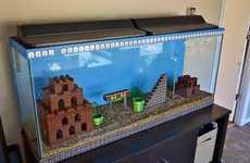 Nostalgic Gamer Aquariums - Kelsey Kronmiller Constructed a Super Mario Aquarium
