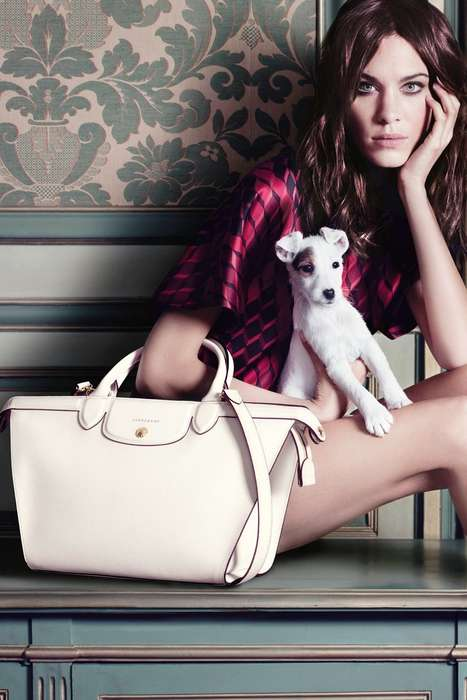 Heritage Handbag Campaigns - Alexa Chung Stars in the Longchamp Fall/Winter 2014 Campaign