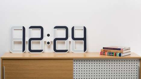 Ingenious E-Ink Clocks - The Twelve24 ClockONE Clock Has a Unique E-Ink Time Display