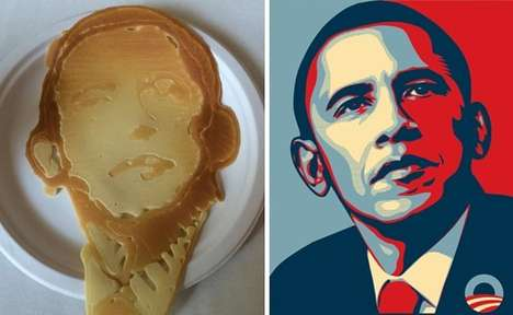 Presidental Pancake Portraits - This Pancake by Pancake Bot Looks Like The USA