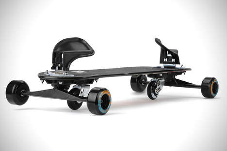 Free-Flowing Skateboards - The Freebord Skateboard Acts Like a Snowboard for the Road
