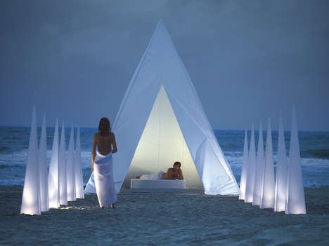 Luxe Backyard Pyramids - The Giant Tipi from Gandia Blasco Turns One