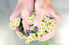 DIY Daisy Manicures