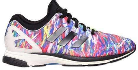 Technicolor Splatter Sneakers - The Adidas ZX Flush Tech Sneakers are Colorfully Bold