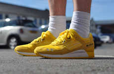 Vibrant Platform Sneakers - The Asics Gel Lyte 3 CMYK Sneakers are Brighter Than the Sun