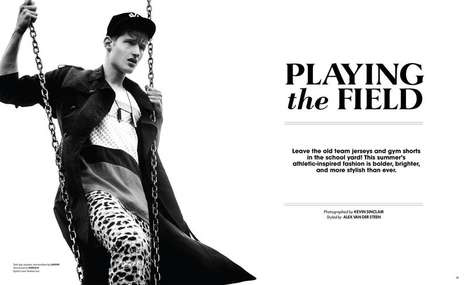 Sporty Greasy-Haired Editorials - The Essential Homme June 2014 Photoshoot Stars Tino Thielens