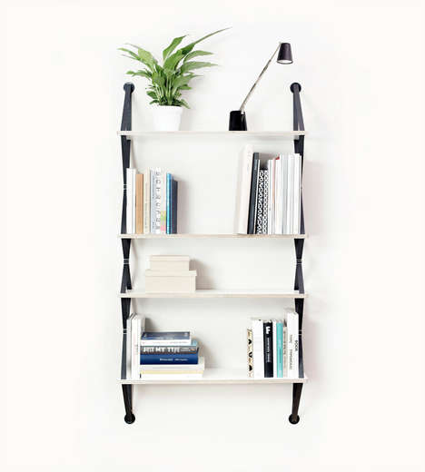 Belt Strap Bookshelves - Backpack is a Light Shelving Unit Perfect For the Home