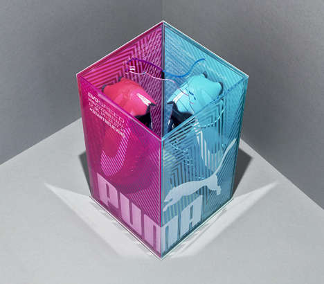 Mismatched Shoe Packaging - PUMA Uses Everyone Associates to Brand Pink and Blue Kicks