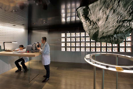 Rock Formation Lounges - Mathieu Lehanneur Designs a Space for Audemars Piguet Company