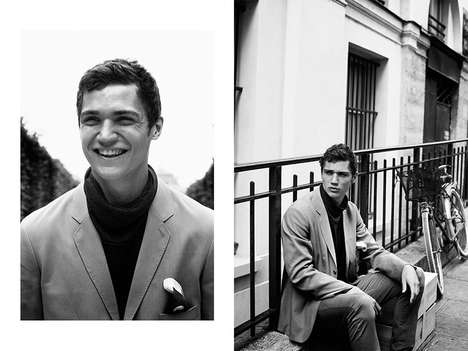 Parisian Gentleman Candids - The Boys in Paris Fashion Story Highlights Sophisticated Staples