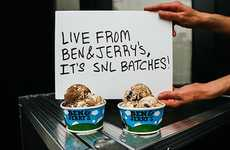 Comedy Skit Ice Cream - The Ben & Jerry's SNL Batches Will Have People Laughing for Ice Cream