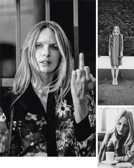 70s Bohemian Babe Editorials - Sean Sullivan Captures 'Bukowski's Women' in This Editorial