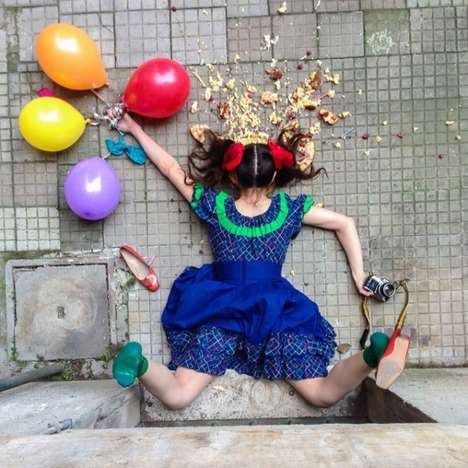 Feminine Face-Plant Photography - Sandro Giordoan Captures Hilarious Photos of People Falling