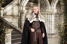 Fantasy Character Capes - This Jon Snow Cape is a Great Novelty Game of Thrones Product