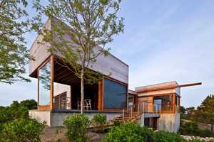 The Island House Blends in with the Natural Landscape