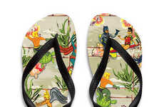 Tropical Superhero Sandals