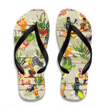 Tropical Superhero Sandals - These DC Comic Book Flip-Flops Feature Graphics of Iconic Heroes