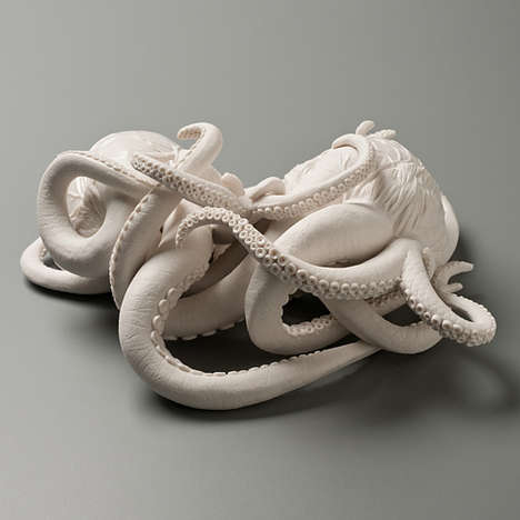 Tentacular Hearts Sculptures - Kate MacDowell