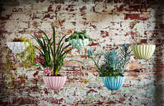 Bulbous Suspended Gardens - Hanging Jelly Planters by Angus & Celeste are Inspired by Centerpieces