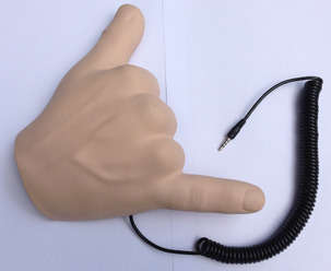 Humorous Hand Headsets - The Handiheadset Turns the Call Me Gesture into a Working Phone