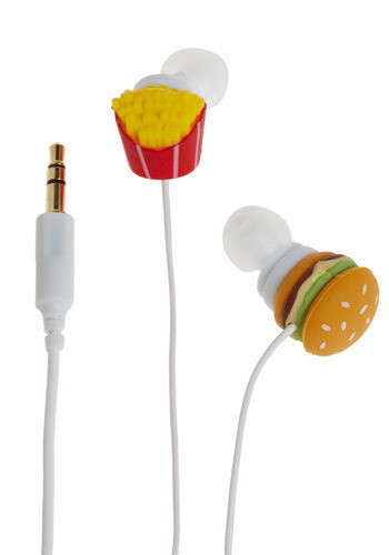 Junk Food Tech Accessories - These Fast Food Headphones from Shop Jeen Celebrate Snacking