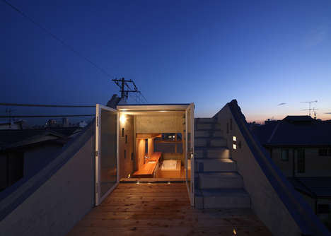 Compact Windowed Residences - The Wall of Nishihara Spans Three Meters Wide