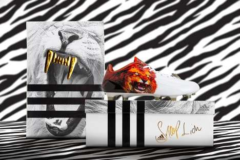 Rapper Soccer Cleats - The Adizero 5-Star Snoop Lion Boots Feature a Roaring Lion Print