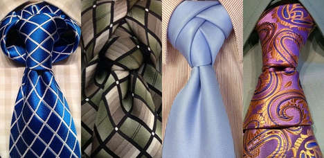 Unusual Necktie Knot Guides - Smoking Popes