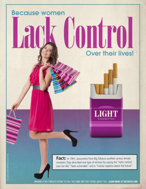 Mock Tobacco Ads - The Truth Profiles by Arnold Use Exact Words from Tobacco Company Documents