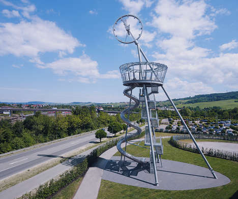 Slide-Based Sculptures - Carsten Höller Completes the Vitra Slide Tower in Germany
