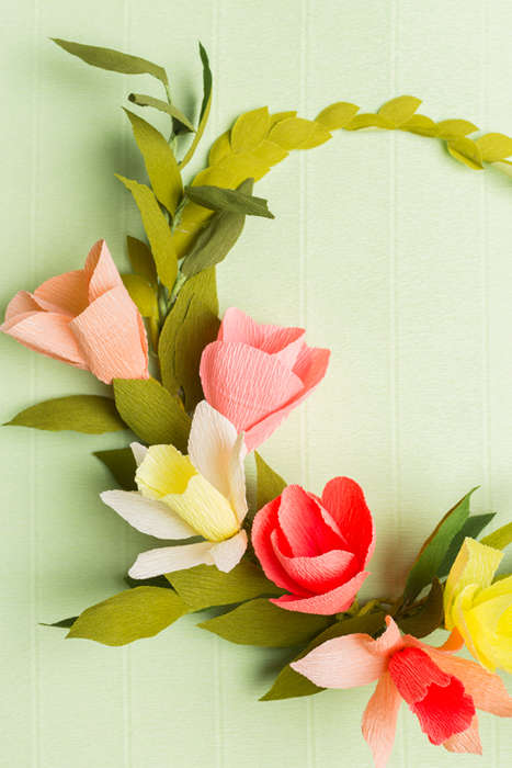 Botanical Paper Crowns - This DIY Flower Wreath is Stylishly Made From Paper to Prevent Decay