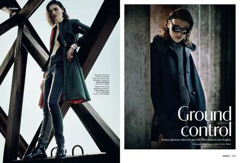 Posh Pilot Editorials - The Wallpaper July 2014 Ground Control Photoshoot is Airplane Inspired